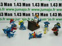 LOT2 Figurine PVC schleich : 7 SCHTROUMPF smurf puffi pituffo