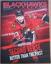 2013-14 Chicago Blackhawks Program Kris Versteeg Cover Second Verse