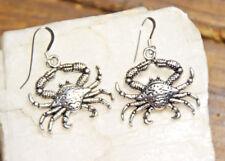 Crab Earrings Ocean Sea Life Animal 925 Sterling Silver earrings Pewter charms