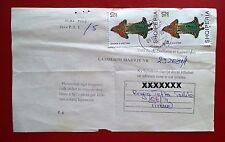 ALBANIA 2000 - Costumes. Cover Mi 2723. Receipt notification mail document