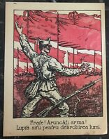 Original USSR Leaflet Dropped in Romania Communist Post WW1 Throw The Guns