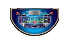 Craps for a Blackjack Table - Cup Craps - WOW Casino Quality Layouts!! - SALE
