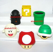 Bandai Super Mario Bros Wii Saving Box figure gashapon (full set of 6 figures)