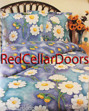 New Double Quilt Cover Set Pillow Cases/Shams Yellow Flower Power Eyelet Trim