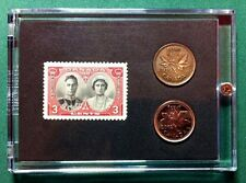 Queen Elizabeth and George Vl 1939 Commemorative Stamp Coin Set Gift Idea