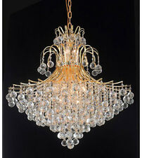 Palace Contour 15 Light Crystal Chandelier Ceiling Light  Gold 31x35