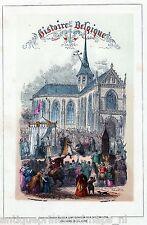 Antique print Brussels / Isabella van Spanje Isabelle d'Espagne Brussel