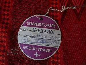 swissair group travel tag traveler Luggage tag used