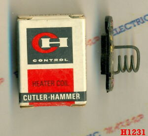 Cutler Hammer HEATER COIL H1231 1231A 10177H 1231 H1231A Overload