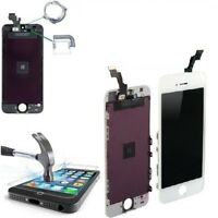 SCHERMO DISPLAY IPHONE 5S BIANCO PER APPLE TOUCH SCREEN LCD RETINA VETRO SILVER