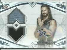2020 TOPPS WWE UNDISPUTED SETH ROLLINS AUTO DUAL RELIC SP #/99 MESSIAH AUTOGRAPH