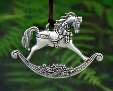 Rocking Horse Christmas Ornament | Traditional Christmas Designs in Fine Pewter