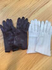 Lot of 2 pairs Vintage Ladies Kid Leather Unlined Gloves
