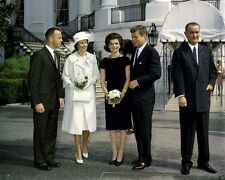 President and Mrs. John F. Kennedy with astronaut Alan Shepard New 8x10 Photo