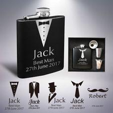 Personalised Hip Flask Engraved 6oz Wedding Gift Keepsake Best Man Groom Usher