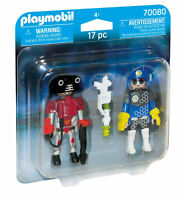 70080 Playmobil Space Policeman and Thief Duo Pack Suitable for ages 4 years and