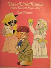 Three Little Kittens Paper Dolls By Tom Tierney