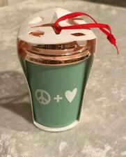 Starbucks Christmas 2017 Peace Love Cup Ornament Holiday