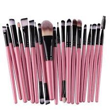 20pcs/set  Makeup Brush Set tools Make-up Toiletry Kit Wool Make Up Brush Set^