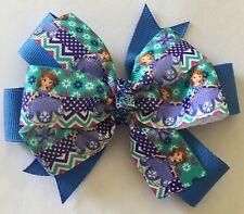 Sophia The First Princess Inspired Hair Bow Girls Baby Toddler Sophia Barrette
