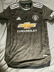 $130 ADIDAS MANCHESTER UNITED 20/21 MEN'S SIZE S AUTHENTIC AWAY JERSEY EE2377