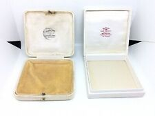 SUPERB ANTIQUE VINTAGE POCKET WATCH FOB RINGS JEWELLERY DISPLAY BOXES CASES X2