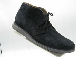 Cole Haan Lunargrand C13626 Size 11.5 M Black Suede Chukka Ankle Boot Mens Shoes