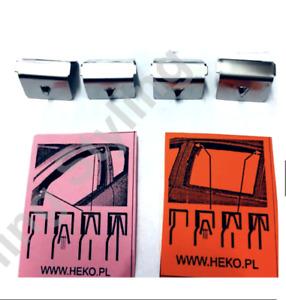 4 pcs Genuine Metal Clips Type Channel Wind Deflectors HEKO Original