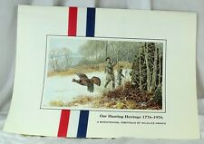 "1976 Remington Wildlife Art Collection 12 1/4"" X 16 1/2"" Prints Arms Patriotic"