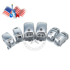6 pcs Chrome Hand Control Switch Housing Button Cover Cap for Harley 96-2013 US