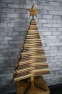 Infinity Eco Wooden Christmas Tree Multicoloured Wax Handmade 120cm tall