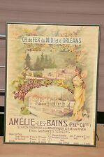 Affiche ancienne - La station thermale d'Amélie-les-Bains, par Louise Abbéma