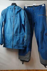 Mammut Stoney Gore-Tex Herren Ski Snowboard Jacke Hose HS Anzug Blau S #P11