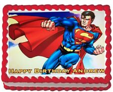 Superman Man of Steel Edible Cake Topper Icing Party Decoration Personalized