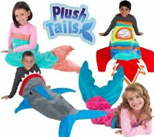 NEW Plush Tails Kids Super Soft Fun Style Tail Blankets CHOOSE COLORS