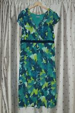 Per Una ~ Blue Multi Lined Floral Dress ~ Size 20