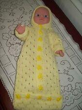 "Baby Doll  12"" - 14"" Hoodies Sleeping Bag ~ Yellow"