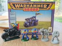 Warhammer 40K Space Marine Bike Citadel Miniatures OOP + 4 Combat Squad GW