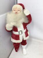 Vintage Mid Century Harold Gale White Velvet Santa Claus Figure MCM 50s 60s