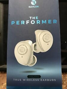 raycon e55 pro the performer true wireless earbuds white