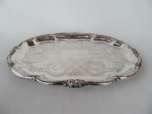 Vintage Stokes Silver Plated High Tea Wedding party Large Serving Tray