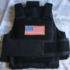 Tactical US Army Black Vest Plate Carrier Molle Waist Assault Gear Paintball