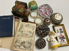Vtg Bulk Collectible Treasure Junk Storage Auction Box Lot Trinkets Figurines
