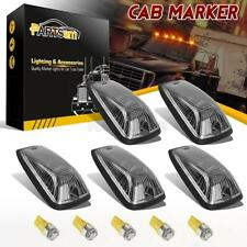 5) For 88-02 Chevy/GMC Clear Cab Marker Clearance Light+ Amber 5050 W5W LED+Base