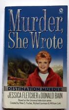 Murder She Wrote Paperback Book DESTINATION MURDER  By Jessica Fletcher / D Bain