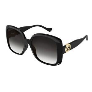 Occhiali da Sole Gucci GG1029SA 001 57-19-145 Donna black lenti grey gradient