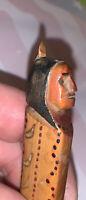 Vintage Carved Wooden Indian Souvenir Letter Opener Wood Eastern USA 1880s