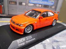 BMW 320i E46 Tourenwagen Touringcar orange Test plain body Minichamps 1:43