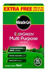Miracle-Gro EverGreen Multi Purpose Lawn Seed - 16m² 480g