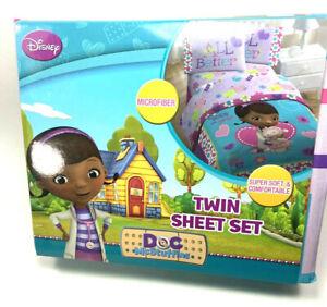 New Disney Doc Mcstuffins All Better Twin Sheet Set for Kid's-3 pcs